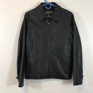 NWOT Bauer Leather Zipper Jacket Wit 3 pockets M.